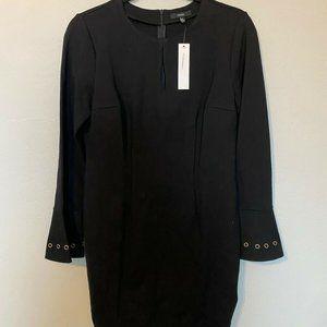 DREW Anthropologie Black Bell Long Sleeve Bodycon